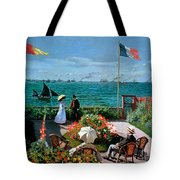 The Terrace at Sainte Adresse Tote Bag by Claude Monet
