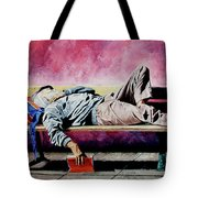 The Traveler 1 - El Viajero 1 Tote Bag by Rezzan Erguvan-Onal