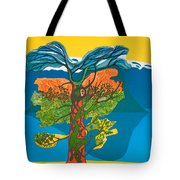 The Tree Of Life. From The Viking Saga. Tote Bag by Jarle Rosseland