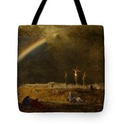 The Triumph At Calvary Tote Bag by George Inness