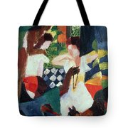 The Turkish Jeweller  Tote Bag by August Macke