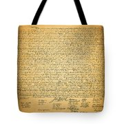 The United States Declaration of Independence Tote Bag by Wingsdomain Art and Photography