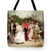 The Village Wedding Tote Bag by Sir Samuel Luke Fildes