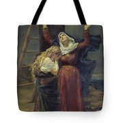 The Virgin At The Foot Of The Cross Tote Bag by Jean Joseph Weerts