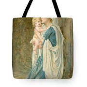 The Virgin Mary With Jesus Tote Bag by John Lawson