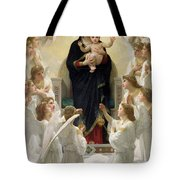 The Virgin with Angels Tote Bag by William-Adolphe Bouguereau