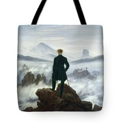 The Wanderer Above The Sea Of Fog Tote Bag by Caspar David Friedrich
