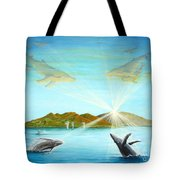The Whales Of Maui Tote Bag by Jerome Stumphauzer