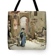 The Wolf Of Gubbio Tote Bag by Luc Oliver Merson
