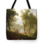 The Wolf River - Kansas Tote Bag by Albert Bierstadt