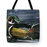 The Wood Duck Tote Bag by Mary Tuomi