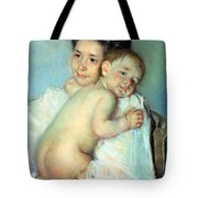 The Young Mother Tote Bag by Mary Stevenson Cassatt