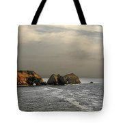 Three Arch Rocks - Oceanside Near Cape Meares - Oregon Tote Bag by Christine Till
