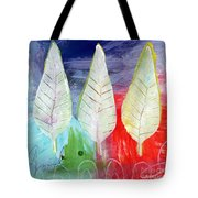 Three Leaves Of Good Tote Bag by Linda Woods