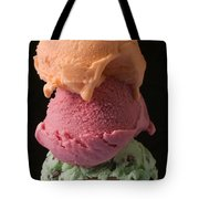 Three Scoops Of Ice Cream  Tote Bag by Garry Gay