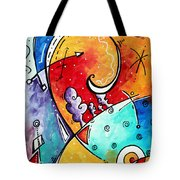 Tickle My Fancy Original Whimsical Painting Tote Bag by Megan Duncanson