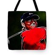 Tiger Woods Tote Bag by Paul Ward