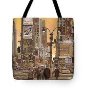 times square Tote Bag by Guido Borelli