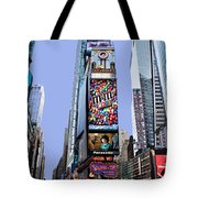 Times Square Nyc Tote Bag by Kelley King
