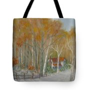 To Grandma's House Tote Bag by Ben Kiger