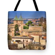 Toledo Town View Tote Bag by Joan Carroll