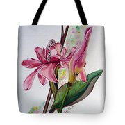 Torch Ginger  Lily Tote Bag by Karin  Dawn Kelshall- Best