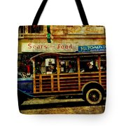 Touring The Streets of San Francisco . texture Tote Bag by Wingsdomain Art and Photography