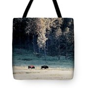 Trail Of Bulls Tote Bag by Jan Amiss Photography