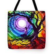 Tree Of Life Meditation Tote Bag by Laura Iverson