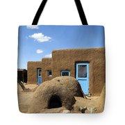 Tres Casitas Taos Pueblo Tote Bag by Kurt Van Wagner