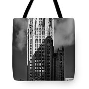 Tribune Tower 435 North Michigan Avenue Chicago Tote Bag by Christine Till