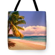 Tropical Island 6 - Painterly Tote Bag by Wingsdomain Art and Photography