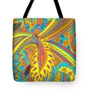 Tropical Sizzle Tote Bag by Ramneek Narang