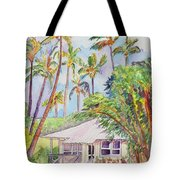 Tropical Waimea Cottage Tote Bag by Marionette Taboniar