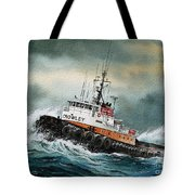 Tugboat Hunter Crowley Tote Bag by James Williamson