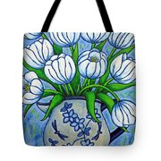 Tulip Tranquility Tote Bag by Lisa  Lorenz