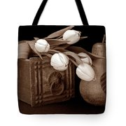 Tulips With Pear I Tote Bag by Tom Mc Nemar
