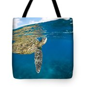 Turtle Taking A Breath Tote Bag by Dave Fleetham - Printscapes