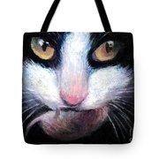 Tuxedo Cat With Mouse Tote Bag by Svetlana Novikova