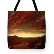 Twilight In The Wilderness Tote Bag by Frederic Edwin Church