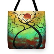 Twisting Love II Original Painting By Madart Tote Bag by Megan Duncanson