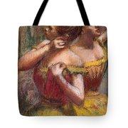 Two Dancers Tote Bag by Edgar Degas