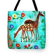 Two Deer Tote Bag by Sushila Burgess