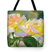Two Peace Rose Blossoms Tote Bag by Sharon Freeman