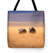 Two Rhino's Tote Bag by Adam Romanowicz