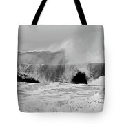 Two Waves Are Better Than One - Jersey Shore Tote Bag by Angie Tirado