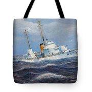U. S. Coast Guard Cutter Sebago Takes A Roll Tote Bag by William H RaVell III