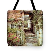 Under the Old Malthouse Hambledon Surrey Tote Bag by Helen Allingham