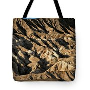 Unearthly World - Death Valley's Badlands Tote Bag by Christine Till