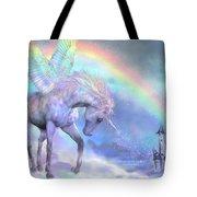 Unicorn Of The Rainbow Tote Bag by Carol Cavalaris